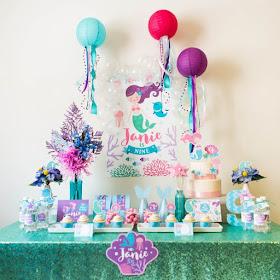 mermaid birthday decorations