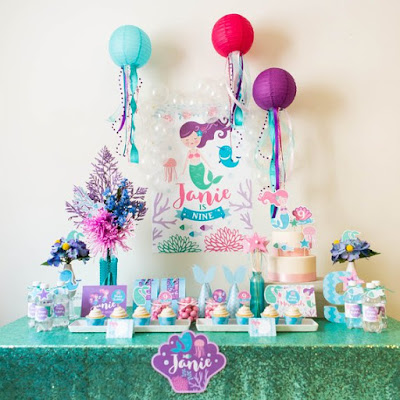 mermaid birthday decorations