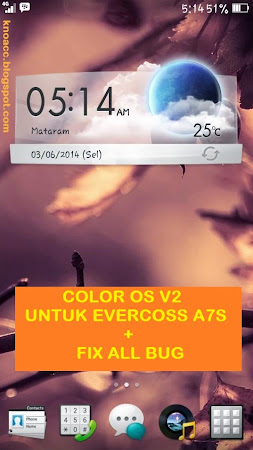 Custom ROM Oppo (ColorOS V2) untuk Evercoss A7S [FIX]