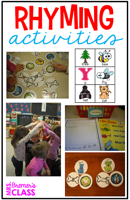 Rhyme activities for Kindergarten and First Grade