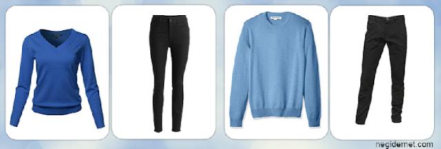 mavi-kazak-siyah-pantolon-kombin-bayan-erkek-ne-gider-ne-giyilir