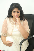 Megha Akash in beautiful Cream Transparent Anarkali Dress at Pre release function of Movie LIE ~ Celebrities Galleries 017.JPG