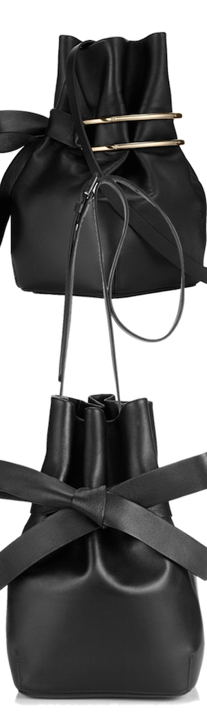 Jimmy Choo Eve Black Nappa Leather Bucket Bag