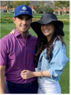 Abraham Ancer On The Course With His Girlfriend Nicole Curtright