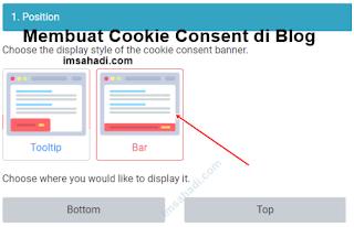 Cara Membuat Cookie Consent di Blog
