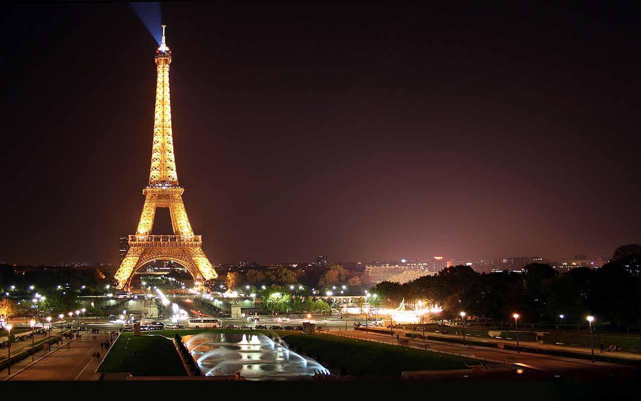 3d Wallpaper City Lights Fond Ecran Tour Eiffel Scintillante Fonds D 233 Cran Hd