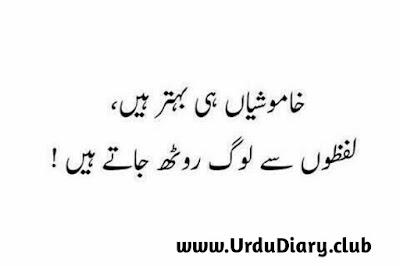 Khamoshian hi behtar hain -  urdu sad shayari images
