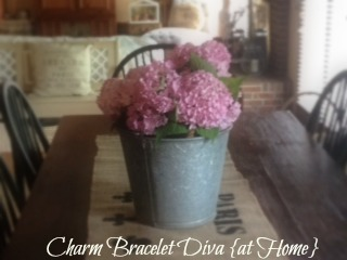 Hydrangeas farmhouse galvanized buckets
