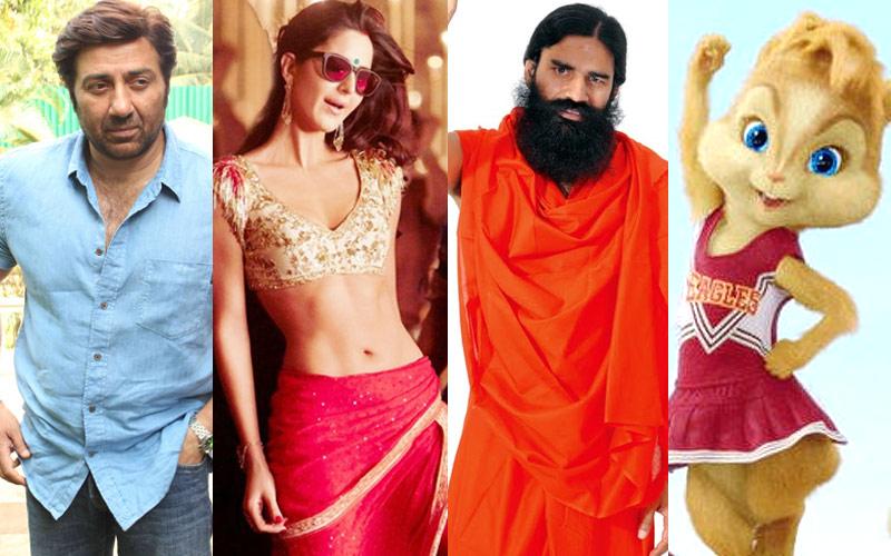 Baba Ramdev, Sunny Deol, Sia, Chipmunks, Kala Chashma