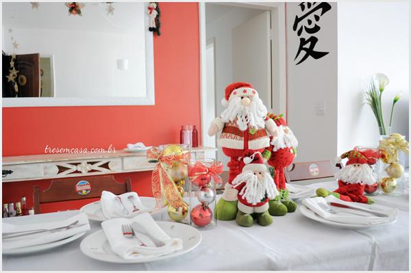 almoço natal decoração
