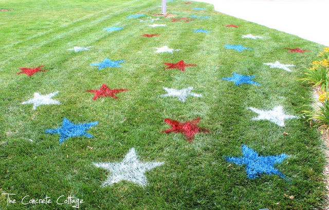Lawn stars for the 4th