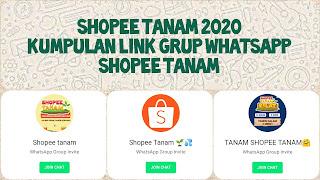 Link grup whatsapp shopee tanam 2020