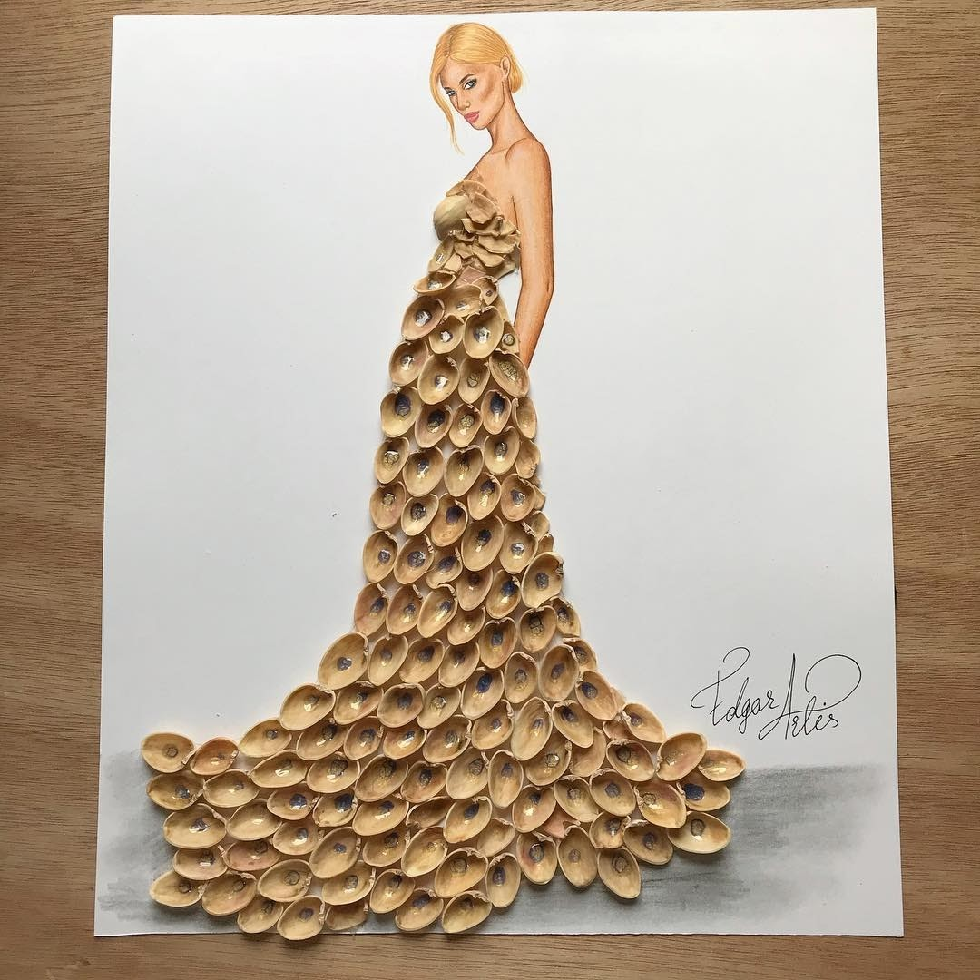 10-Pistachio-Shells-Edgar-Artis-Multimedia-Drawings-and-Food-Art-Dresses-www-designstack-co