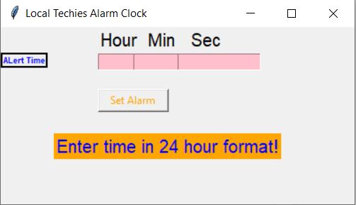 Alarm Clock Gui Using Python Local