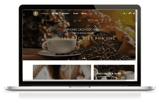 Giao diện blog bán hàng đồ ăn đồ uống cà phê