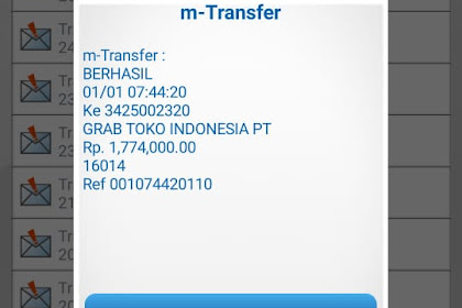 Bukti Transfer & Bukti Chat CS grabtoko.com Dengan Korban - A.N Achmad Zaini Dari Karawang
