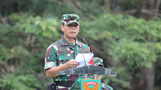 Danrem Gapu 042 menutup Latihan Pratugas Satgas Perbatasan Indonesia - Timor Leste