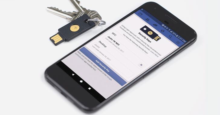 Facebook Adds FIDO U2F Security Keys Feature For Secure Logins