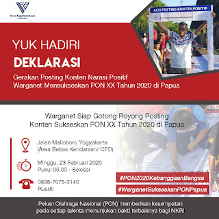 Warganet Dukung PON XX 2020 Sebagai Momentum Pembangunan Papua