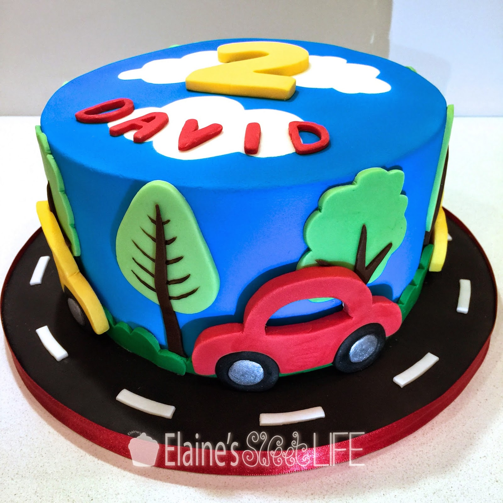Elaine S Sweet Life How To Decorate A Car Cake Tutorial