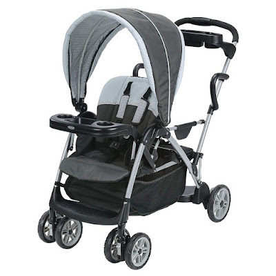 Graco Roomfor2 Stand and Ride Stroller | Lightweight Double Stroller
