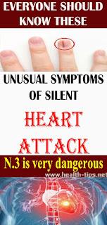Unusual symptoms of a silent heart attack#NATURALREMEDIES