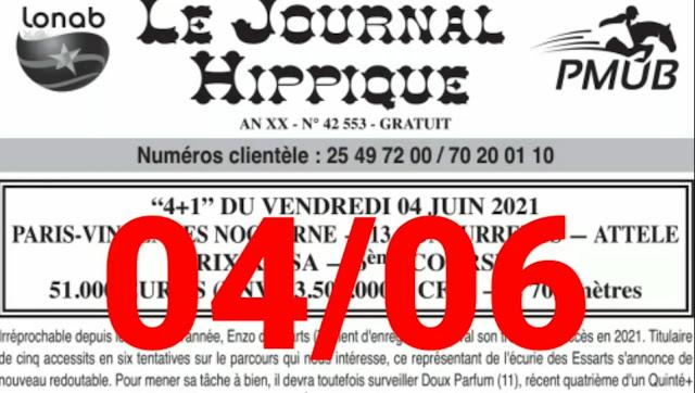 programme quinté Pronostic Vendredi 04/06/2021