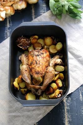 poulet , ail fumé Arleux , citron , sauge , facile
