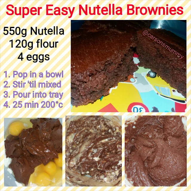 Nutella recipe brownies cooking carsonsmummy