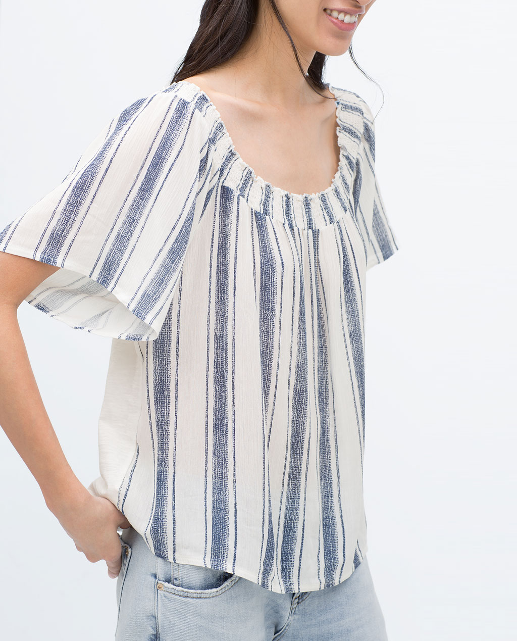 Zara Off-Shoulder T-Shirt