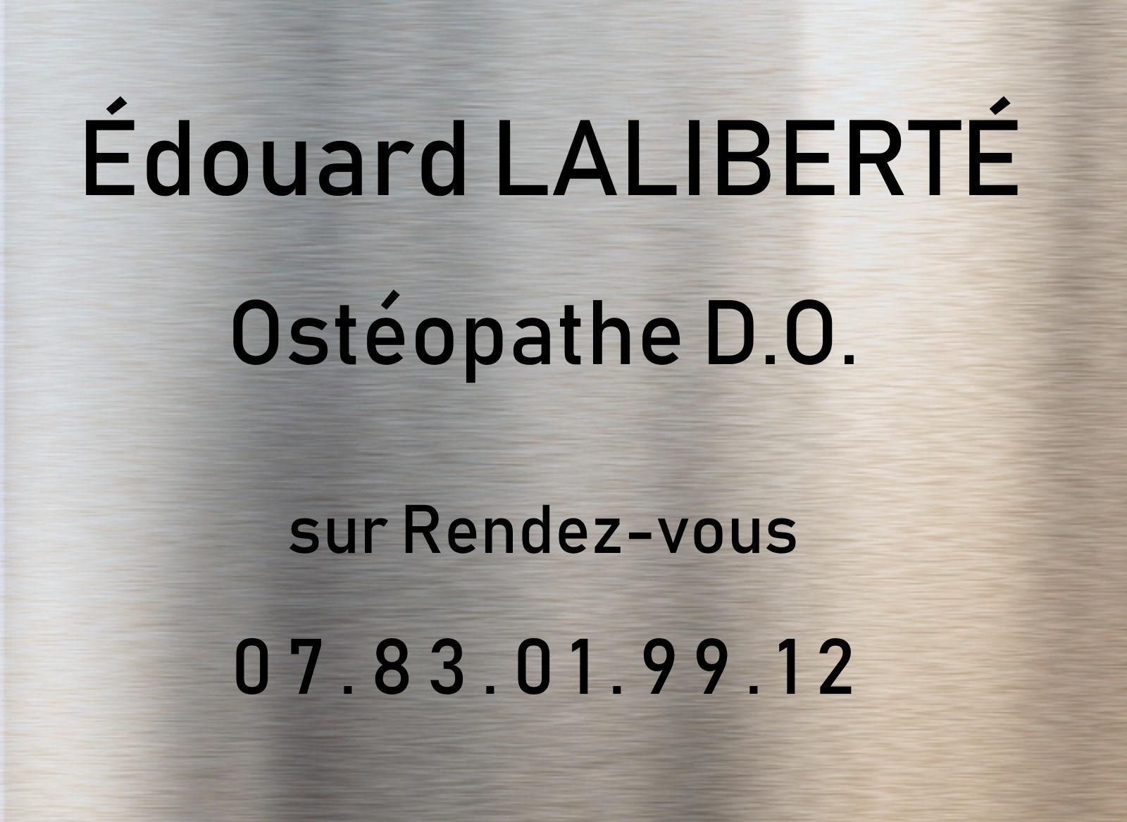 Édouard Laliberté, Ostéopathe, rue Faidherbe Tourcoing