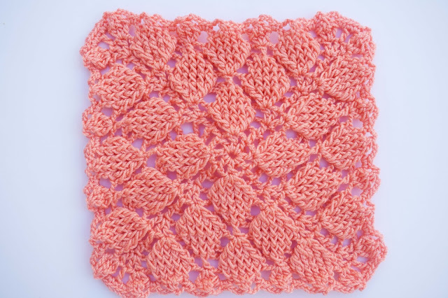3 - Crochet Imagen Puntada colcha infinita de hojas en relieve a crochet por Majovel Crochet