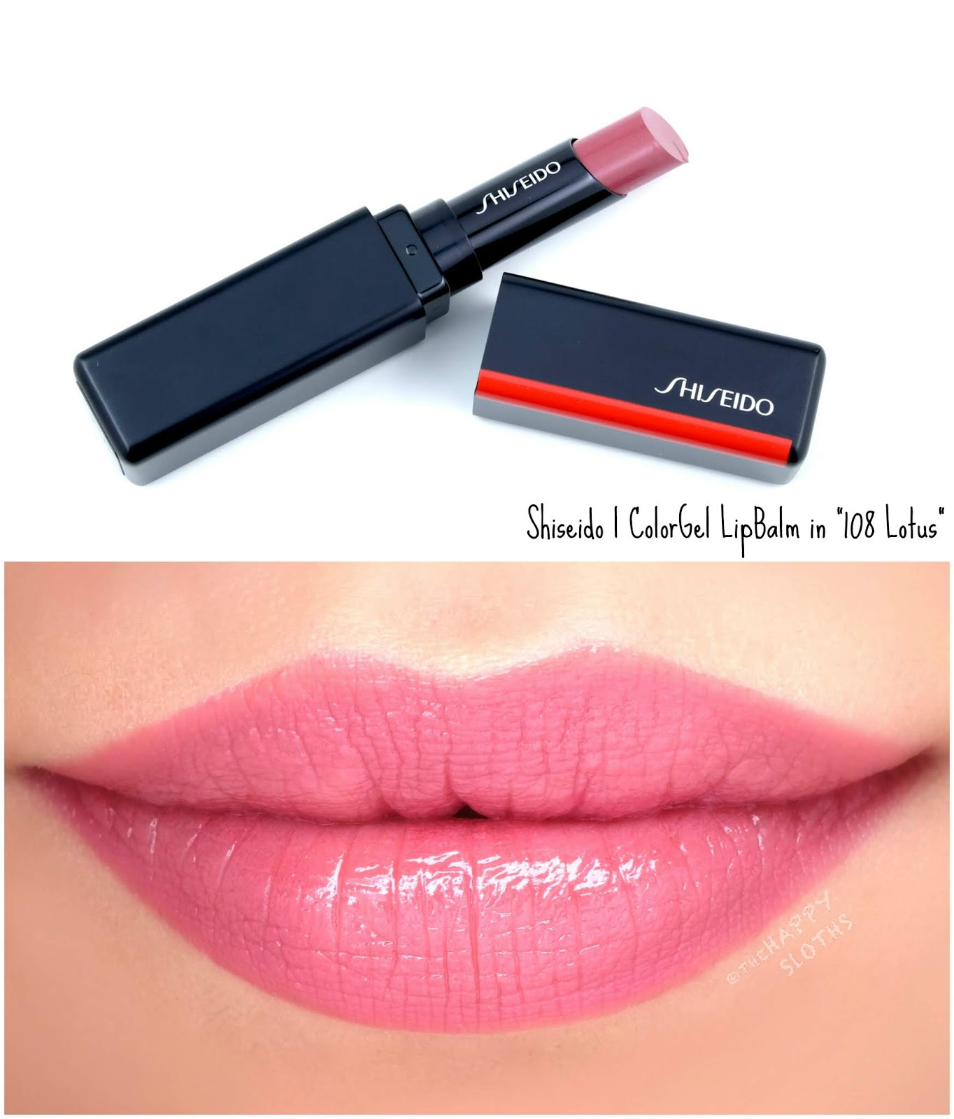 "Shiseido | ColorGel LipBalm in ""108 Lotus"": Review and Swatches"