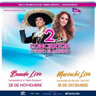Concierto de LUCERO... Banda Live y Mariachi Live