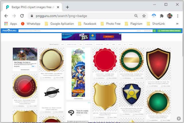 hasil pencarian badge di pngguru.com