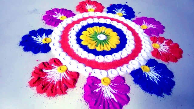 Diwali Rangoli Simple Design