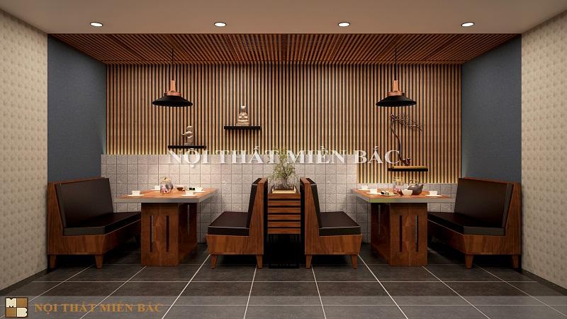 Thiết kế nhà hàng kiểu Nhật gần gũi