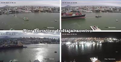 Câmera ao vivo do Pier Turístico de Itajai