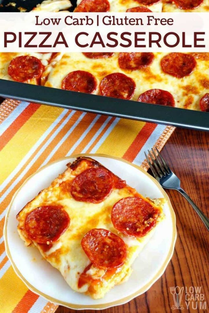 Low Carb Pizza Casserole - Gluten Free #LowCarb #Pizza #Casserole #GlutenFree #LowCarbPizzaCasserole-GlutenFree