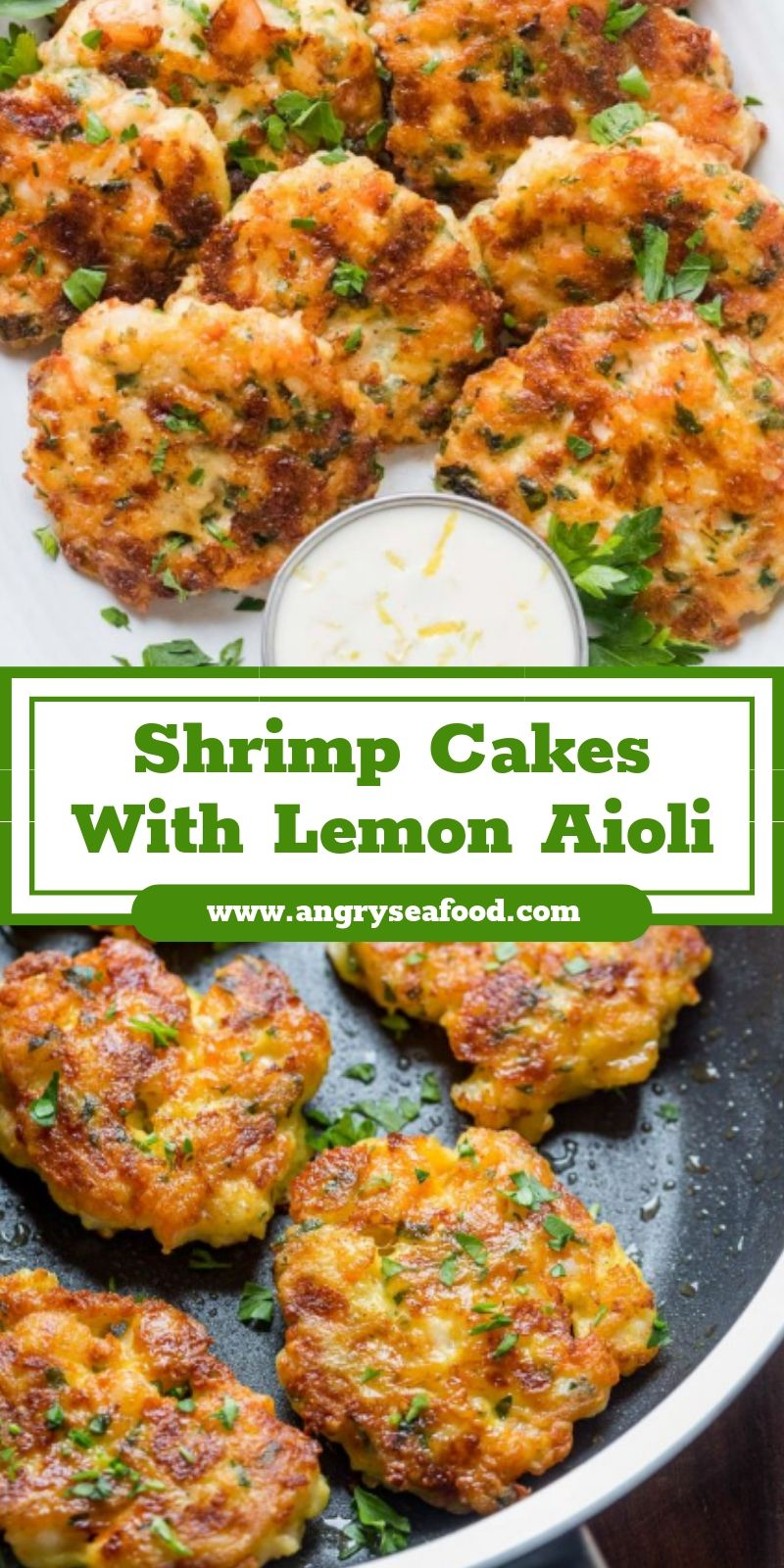 Shrimp Cakes With Lemon Aioli