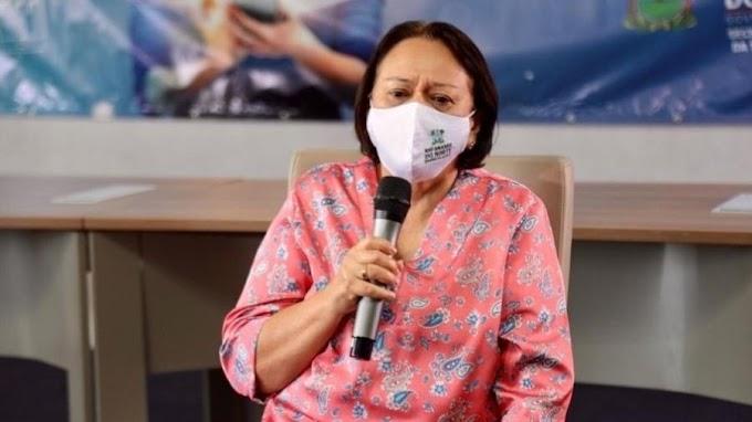 Chorando, governadora Fátima Bezerra anuncia toque de recolher e novas restrições
