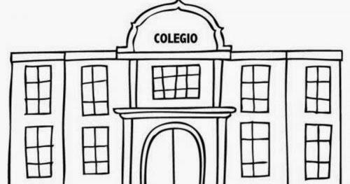 Dibujos De Colegios Para Colorear E Imprimir: Colegio Dibujo. Best Escuela Dibujo Dibujos De Escuelas