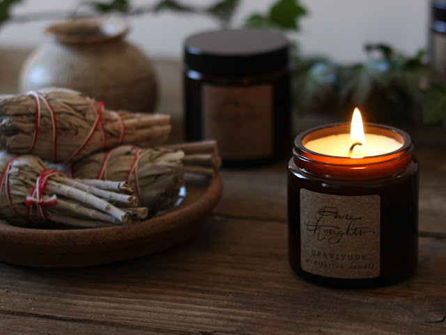 Pure Thoughts Gratitude Meditation Candle
