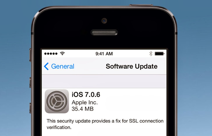 Apple's iOS vulnerable to Man-in-the-middle Attack, Install iOS 7.0.6 to Patch