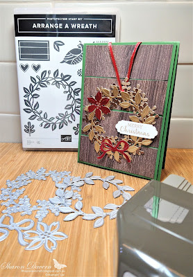 Rhapsody in craft, Arrange a Wreath, Brushed Metallic Cards Stock, Aug-Dec Mini 2020,  2020-21 Annual Catalogue, Stampin' Up, Stampinup, In Good Taste DSP, Lovely Labels Pick a Punch, Christmas Cards, Christmas, Heart of Christmas 2020