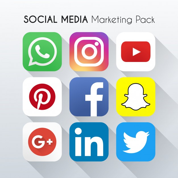 9 social networking Free Vector