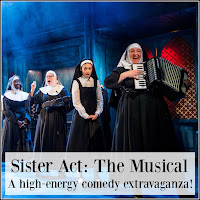 A line up of nuns, playing various musical instruments