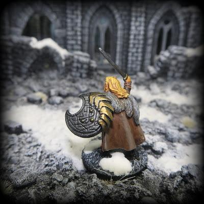 Monté le sergent Open Helm Warhammer Fantasy Armies 28 mm non peinte wargames