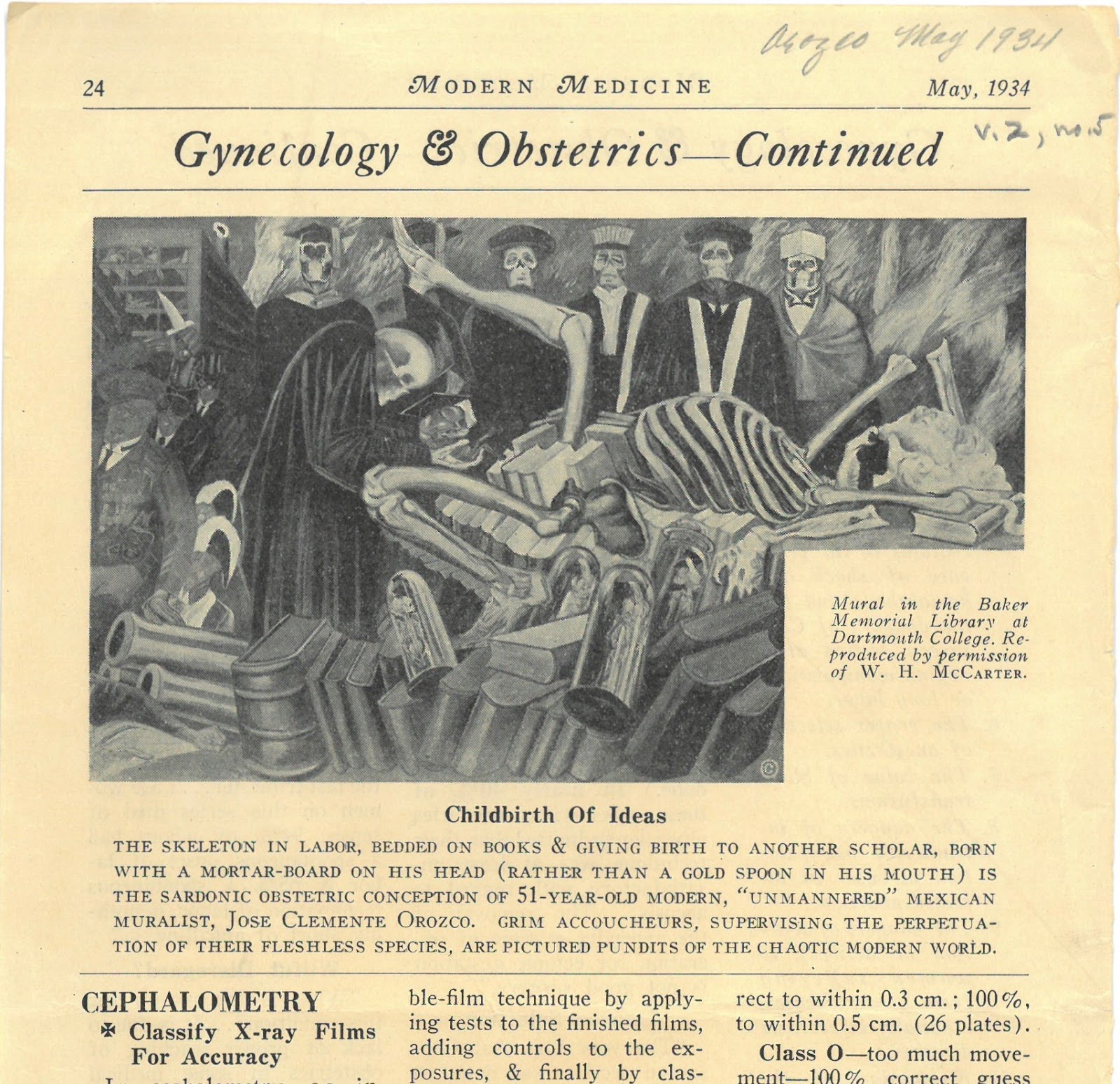 Rauner Special Collections Library: An Obstetric View of Orozco