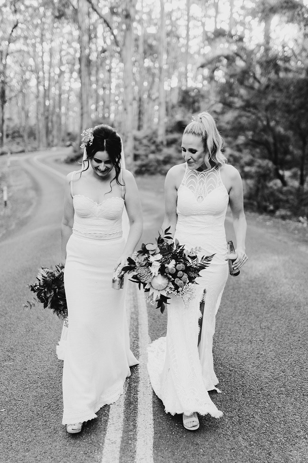 REAL WEDDING NATALIE + PAIGE   KARRIDALE COTTAGES + HOPS FARM WEDDING PERTH WA